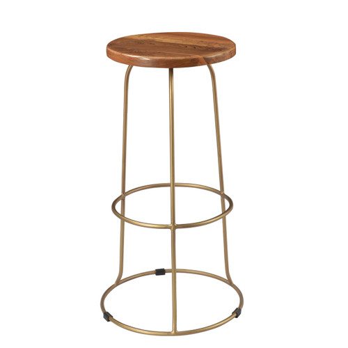 Wilco Bar Stool - Brass