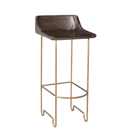 Rosco Bar Stool - Brass