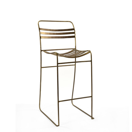 Tobin Stacking Bar Chair - Brass ( Set of 2 )