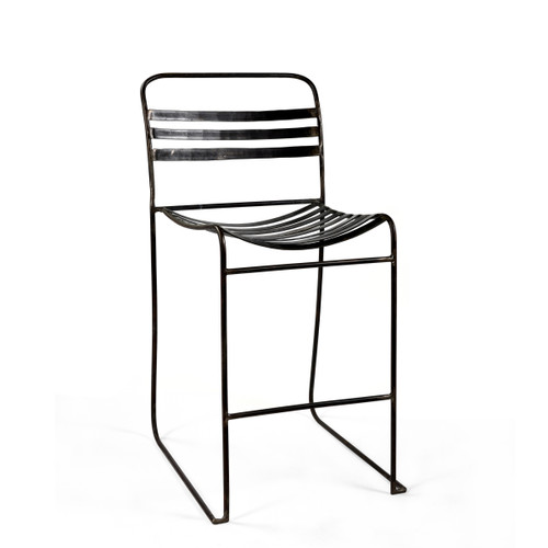 Tobin Stacking Counter Chair - Black ( Set of 2 )