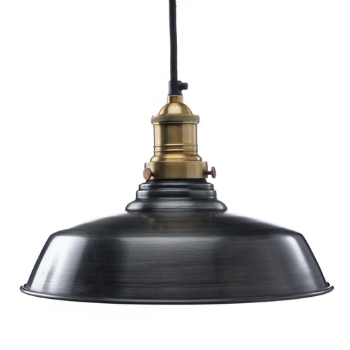 Classic Dome Shade - Steel ( Cord, Socket + Canopy Kit - Black )