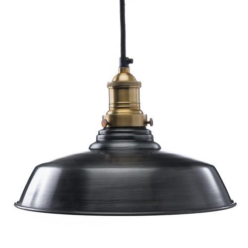 Classic Dome Shade - Steel ( Cord, Socket + Canopy Kit - Black )