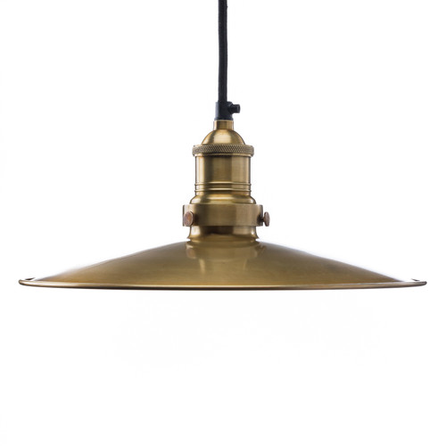 Plate Shade - Brass  ( Cord, Socket + Canopy Kit - Brass )