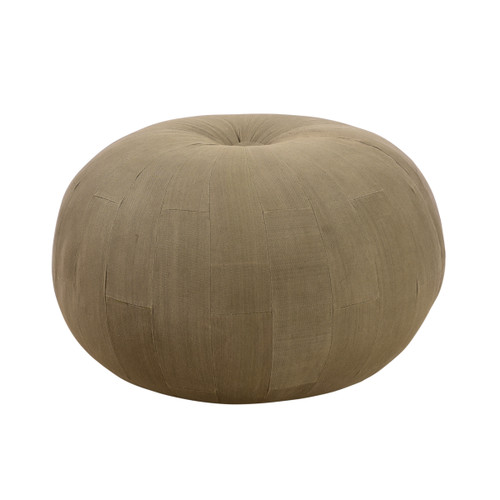 Eastwood Waxed Canvas Ottoman - Round
