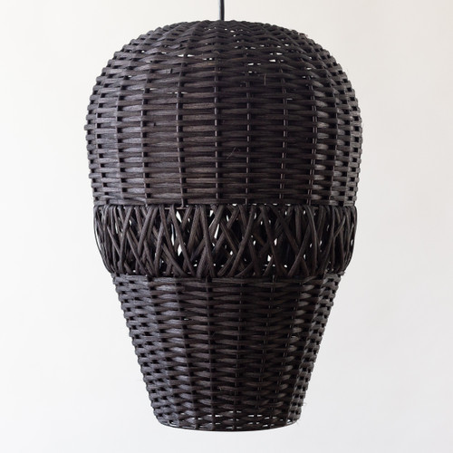Bean Rattan Light - Black