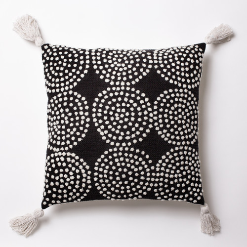9 dot - Black Cushion