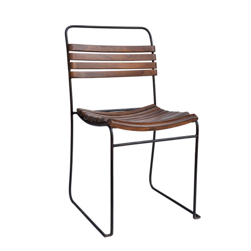 Tobin Stacking Dining Chair - wood slats