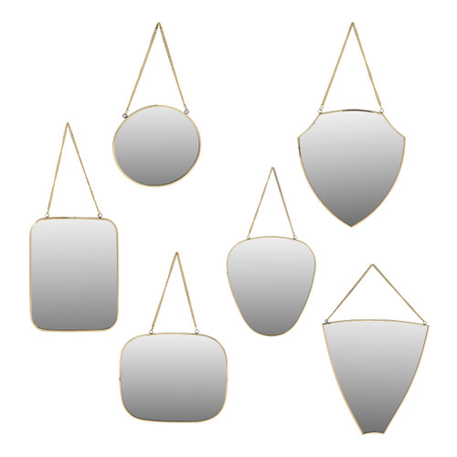 Brass Mirrors - Set of 6