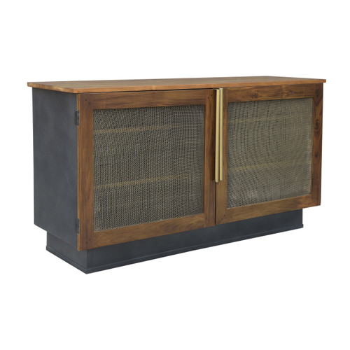 Brass Media Console Table