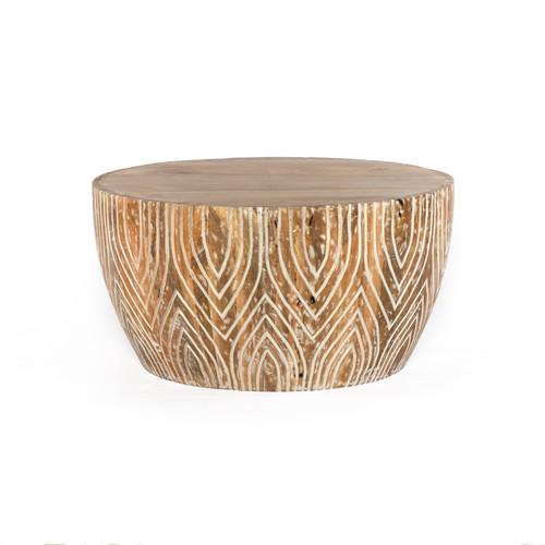 Lotus Leaf Barrel Coffee Table