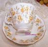 Royal Albert Orange Taffeta Tea Cup & Saucer from England Vintage 1980s English Designer Gift