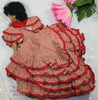 Spanish Flamenco Dancer Oil Cloth Toy Doll Vintage Mid Century 1950s Traditional Folk Art Gift