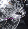 Fostoria Lafayette on Navarre Glass Cup & Saucer Cameo Flower Basket Etch Vintage Mid Century 1940s Designer Gift
