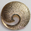 Hammered Gold Geometric Brooch by Pastelli  Vintage Mid Century 1960s Italian Designer Fashion Jewelry Gift