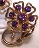 Amethyst Purple Rhinestone Brooch & Earrings by Coro Vintage Mid Century 1950s Designer Fashion Jewelry Gift