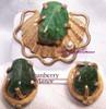 Kramer Pearl Oyster Brooch & Earrings on Gold Demi Parure Vintage Mid Century 1960s Fashion Designer Jewelry Gift