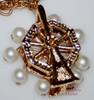 Parklane Pearl Ferris Wheel Charm Bracelet on Gold & it MOVES Vintage 1970s Designer Fashion Jewelry Gift