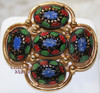 Sarah Coventry Light of the East Brooch w/a Moroccan Enameled Cabochon Vintage Mid Century 1960s Designer Fashion Jewelry Gift
