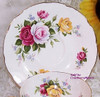 Royal Sutherland Rose Tea Cup & Saucer from Staffordshire England Vintage 1930s English Designer Gift