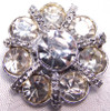 Crystal Rhinestone & Braided Silver Paste Brooch Vintage Fashion Jewelry Gift