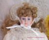 Victorian Styled Porcelain Doll in Lacy Dress & Bonnet Vintage Bisque Porcelain Toy Gift