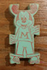 1960s Mickey Mouse Acrobat Wooden Stacking Block Toy in Light Green by Strombecker, Vintage Mid Century Collectible Disney Wood Gift