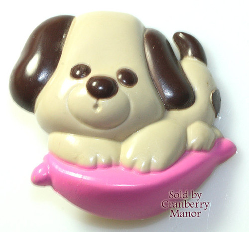 Avon Fragrance Glace Puppy Love Pin Pal Brooch Pet Dog Perfume Vintage 1970s Teen Fashion Designer Jewelry Gift