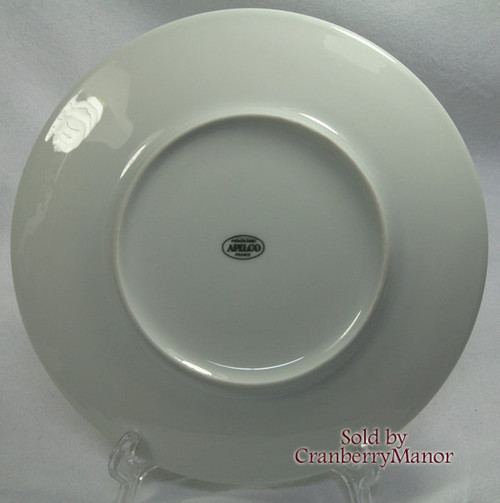 Le Brie Cheese Bistro Cafe Plate by Apilco France Vintage 1980s French Designer Gift