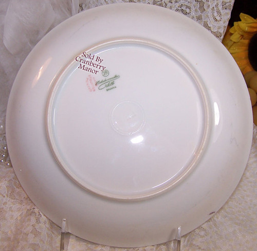 Antique Pink Flower Plate by Hutschenreuther Selb Bavaria Germany Stouffer Dish Vintage 1910s German Designer Gift