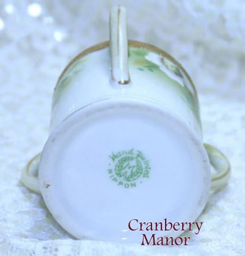 Noritake Nippon Japan 3 Handled Toothpick Holder Cup Dish Vintage 1930s Japanese Designer Gift
