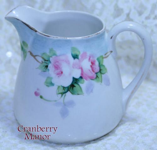 Antique Noritake Nippon Japan Pink Rose Creamer Vintage 1910s Japanese Designer Gift
