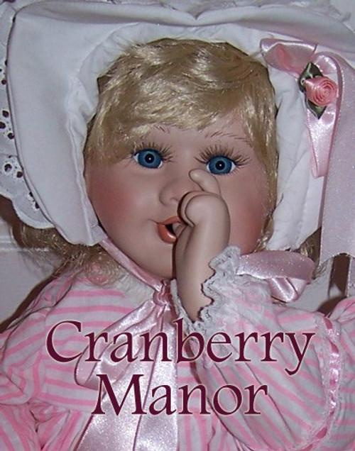 "Holly Hunt Priscilla Thumbsucking 24"" Bisque Porcelain Toy Doll in Original Box by Prestige Collection Vintage 1980s Designer Gift"
