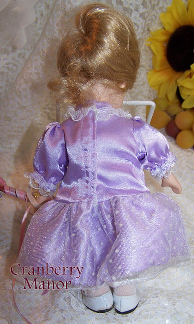 Purple & Pink Bisque Toy Doll w/Balloons Fair Vintage 1990s Gift