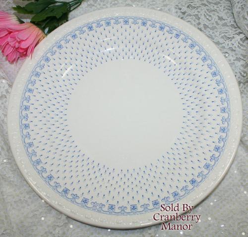 "Ermine on Centurion Blue & White Greek Key 13"" Chop Plate by Copeland Spode England Vintage 1930s English Designer Platter Dish Gift"