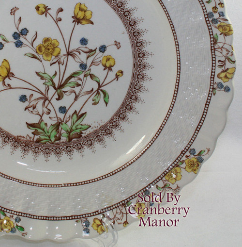 Buttercup Plate by Copeland Spode England Vintage Mid Century 1950s English Designer Earthenware Gift