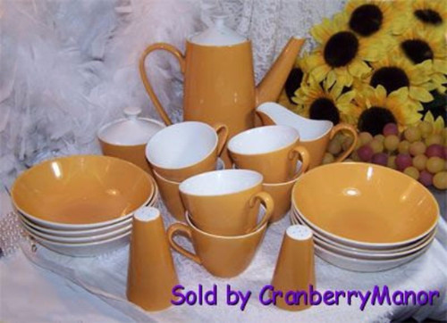 Goldenrod Mustard Yellow Coffee Cup by Johnson Bros England Vintage 1950s Mid Century English Designer Gift