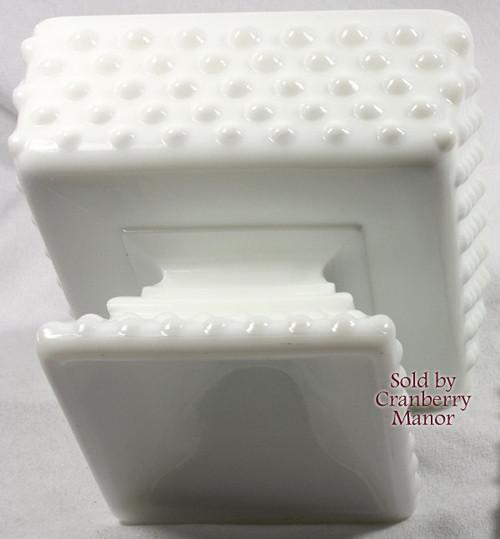 Fenton Hobnail Milk Glass Wedding Cake Box Vintage Mid Century 1960s American Designer Gift