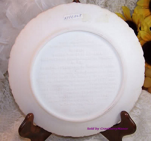 Fenton Satin Art Glass Bicentennial Plate #3 National Federation of Women's Clubs George Washington Valley Forge Vintage 1970s Designer Gift