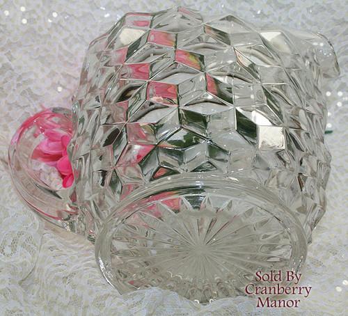 Fostoria American Glass Pitcher w/ Ice Lip Water Cubist Vintage Mid Century  1950s Designer Gift