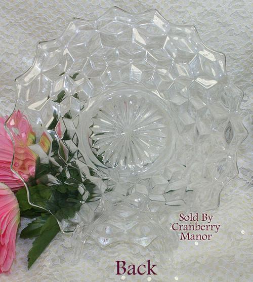 Fostoria American Glass Plate Cubist Dish Vintage Mid Century 1950s Designer Gift