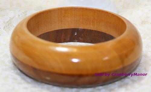 Wood BOHO Bohemian Chunky Funky Bracelet  Vintage 1980s Fashion Jewelry Gift