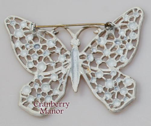 Hedison Brown Enamel Cast Butterfly Vintage 1970s Designer Fashion Enameled Jewelry Gift