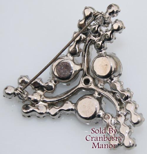 Juliana Rhinestone Silver Pinwheel Brooch  Vintage DE Delizza Elster Mid Century 1950s Designer Fashion Jewelry Gift