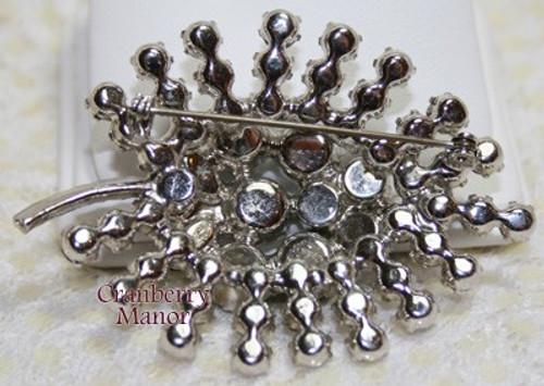 Juliana Black Diamond Crystal Rhinestone Brooch Vintage Mid Century 1950s D&E DeLizza Elster Designer Fashion Jewelry Gift