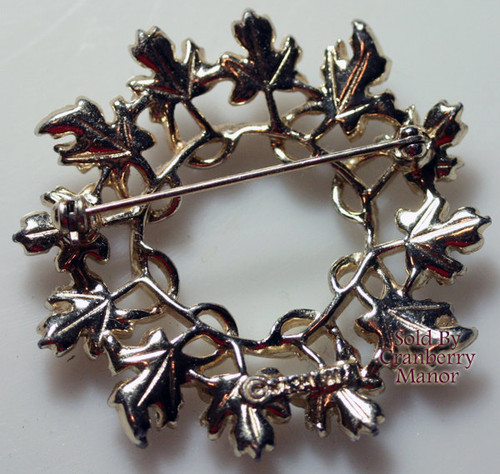Sarah Coventry Garland Brooch in Silver & Gold Vintage Mid Century 1960s Designer Fashion Jewelry Gift