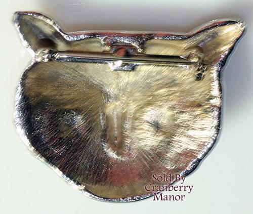 Silver Owl Brooch Minimalist Bohemian Boho Vintage 1970s Fashion Jewelry Gift