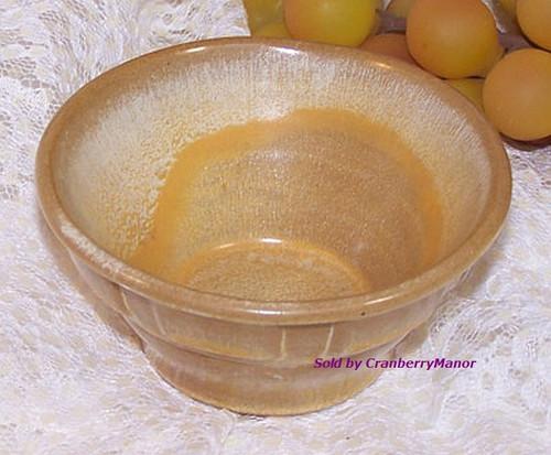Frankoma Wagon Wheel Dessert Bowl Desert Gold Art Pottery Vintage Mid Century 1960s American Designer Gift