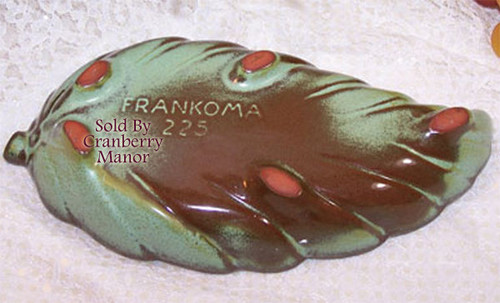 Frankoma Plainsman Prairie Green Art Pottery Leaf Candy Dish Vintage Mid Century 1960s American Designer Gift