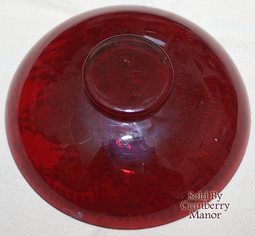St Sophia Cathedral Kiev Russia Souvenir Cranberry Red Glass White Enamel Dish Bohemian Czech Russian Orthodox Church Vintage 1930s Gift
