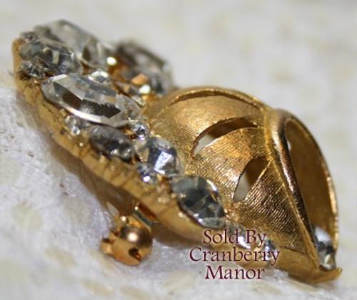 Retro Crystal Rhinestone Brooch Vintage Fashion Jewelry Gift